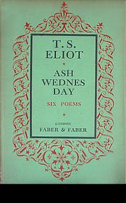 Cover of: Ash-Wednesday