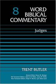 Cover of: Judges (Word Biblical Commentary) | Trent Butler
