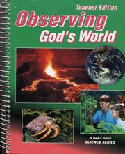 Cover of: Observing God's World | Gregory Rickard