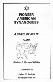 Cover of: Pioneer American synagogues: a state by state guide