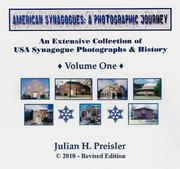 Cover of: American Synagogues: A Photographic Journey