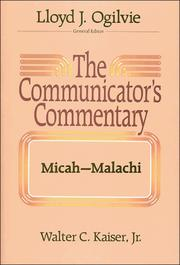 Cover of: The communicator's commentary | Walter C. Kaiser