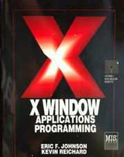 Cover of: X Window Applications Programming | Eric F. Johnson