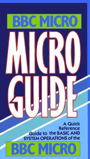 Cover of: Micro Guide for the BBC micro | Peter Morse