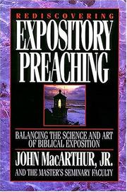 Cover of: Rediscovering expository preaching