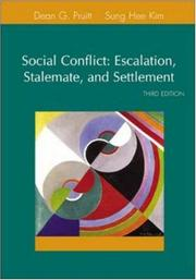 Social Conflict: Escalation, Stalemate, and Settlement