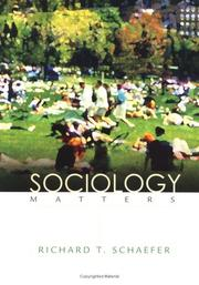 Cover of: Sociology Matters (NAI) | SCHAEFER