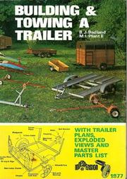 Cover of: Building and towing a trailer