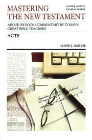Cover of: Acts (Communicator's Commentary, Vol 5) | Lloyd John Ogilvie