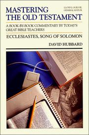 Cover of: Ecclesiastes, Song of Solomon (Mastering the Old Testament, Vol 15b)