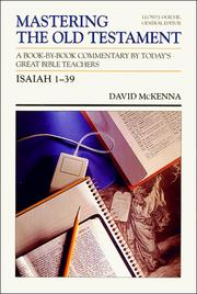 Cover of: Isaiah 1-39 (Mastering the Old Testament, Vol 16a)