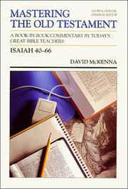 Cover of: Isaiah 40-66 (Mastering the Old Testament, Vol 16b)