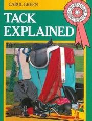 Cover of: Tack Explained (Ward Lock's Riding School)