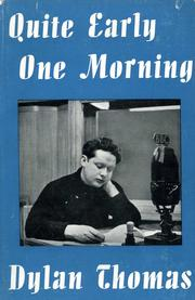 Cover of: Quite early one morning