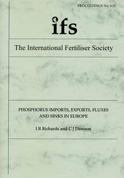 Cover of: Phosphorus Imports, Exports, Fluxes and Sinks in Europe |