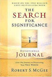 Cover of: The Search for Significance Devotional Journal