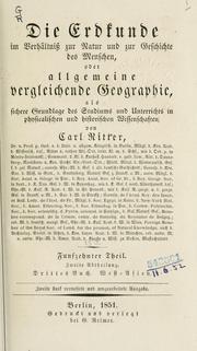 die erdkunde im verh ltniss zur natur und zur geschichte des menschen 1822 edition open library. Black Bedroom Furniture Sets. Home Design Ideas