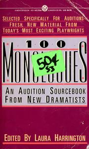 Cover of: 100 monologues by edited by Laura Harrington.