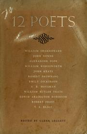 Cover of: 12 poets | Glenn H. Leggett