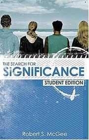 Cover of: The Search for Significance Student Edition