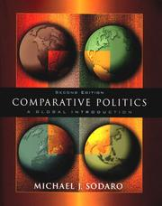 Cover of: Comparative politics | Michael J. Sodaro