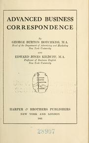 Cover of: Advanced business correspondence | Hotchkiss, George Burton