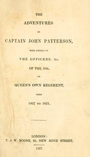 Cover of: adventures of Captain John Patterson | John Patterson