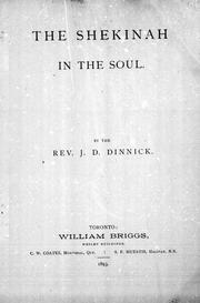Cover of: The Shekinah in the soul |