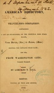 Cover of: American directory, and traveller