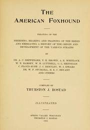 Cover of: The American foxhound | Thurston J. Rostad