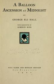 Cover of: balloon ascension at midnight | George Eli Hall
