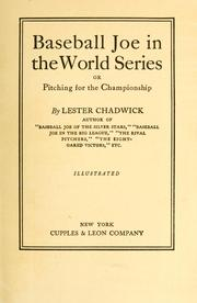 Cover of: Baseball Joe in the World Series by Lester Chadwick