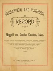 Cover of: Biographical and historical record of Ringgold and Decatur counties, Iowa. |