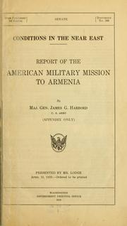 Cover of: Conditions in the Near East. | United States. American Military Mission to Armenia.