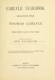 Cover of: Carlyle year-book by Thomas Carlyle