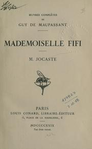 Cover of: Mademoiselle Fifi