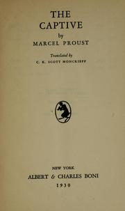 Cover of: The captive | Marcel Proust in deutscher sprache