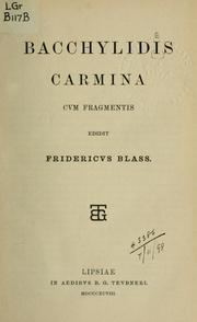 Cover of: Carmina cum fragmentis | Bacchylides