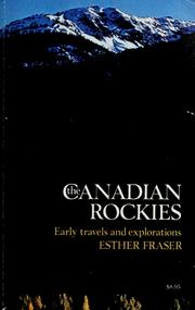 Cover of: The Canadian Rockies | Esther Fraser