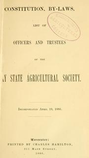Catalogue of entries for the .. by Bay State Agricultural Society.