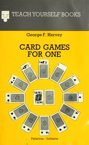 Cover of: Card games for one | George F. Hervey