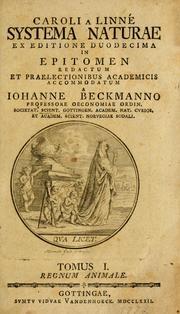 Caroli a Linné Systema naturae (1772 edition) | Open Library