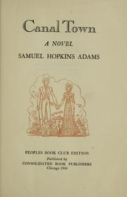 Cover of: Canal town | Samuel Hopkins Adams