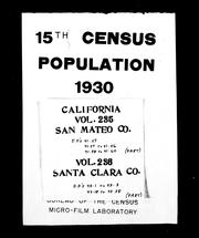 15th census, population, 1930 by United States. Bureau of the Census