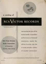 Cover of: A catalog of RCA Victor records | Radio Corporation of America. RCA Victor Division.