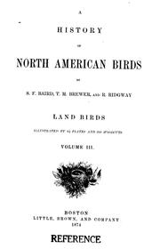 Cover of: A history of North American birds |
