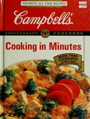 Cover of: Campbell's cooking in minutes cookbook | edited by Pat Teberg.