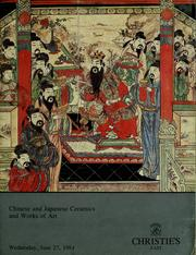 Cover of: Chinese and japanese ceramics and works of art |