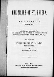 Cover of: The maire of St. Brieux |