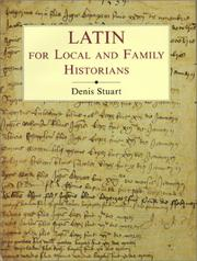 Cover of: Latin for local and family historians